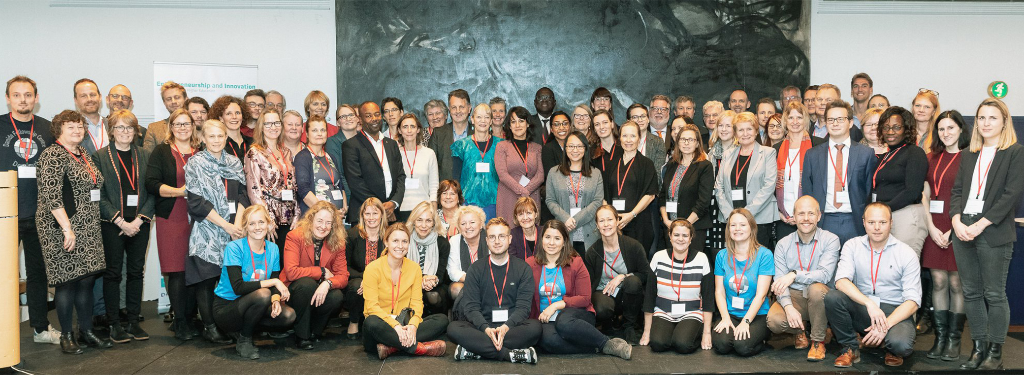 Eighty-one representatives of 36 Europe based organisations that administer capacity building and higher learning programmes in the global met in Copenhagen. Photo: Crawfurd Media