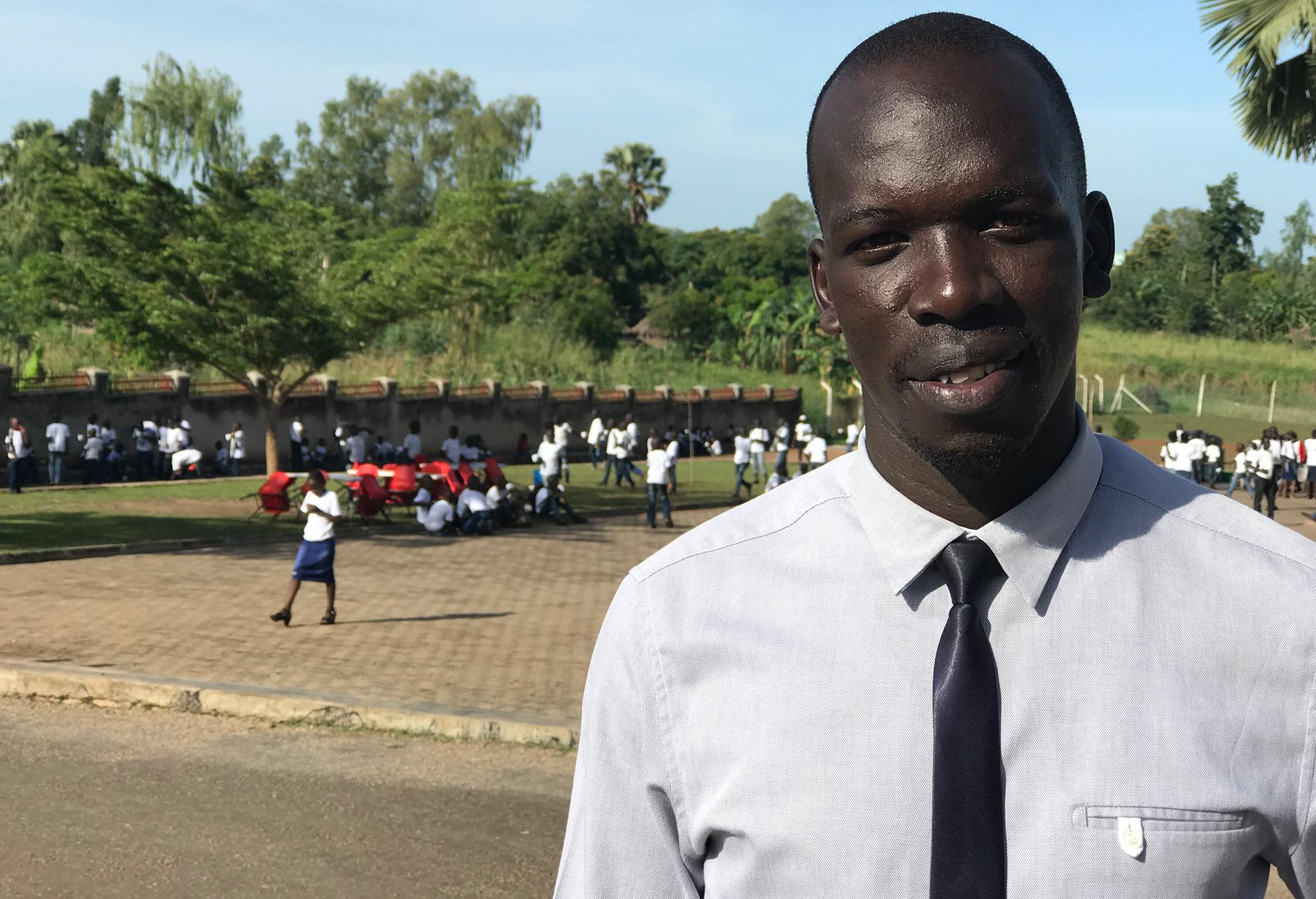 Mr Samuel Woko, Principal at Ludia Nursery and Primary School, Gulu. Photo: Vibeke Quaade