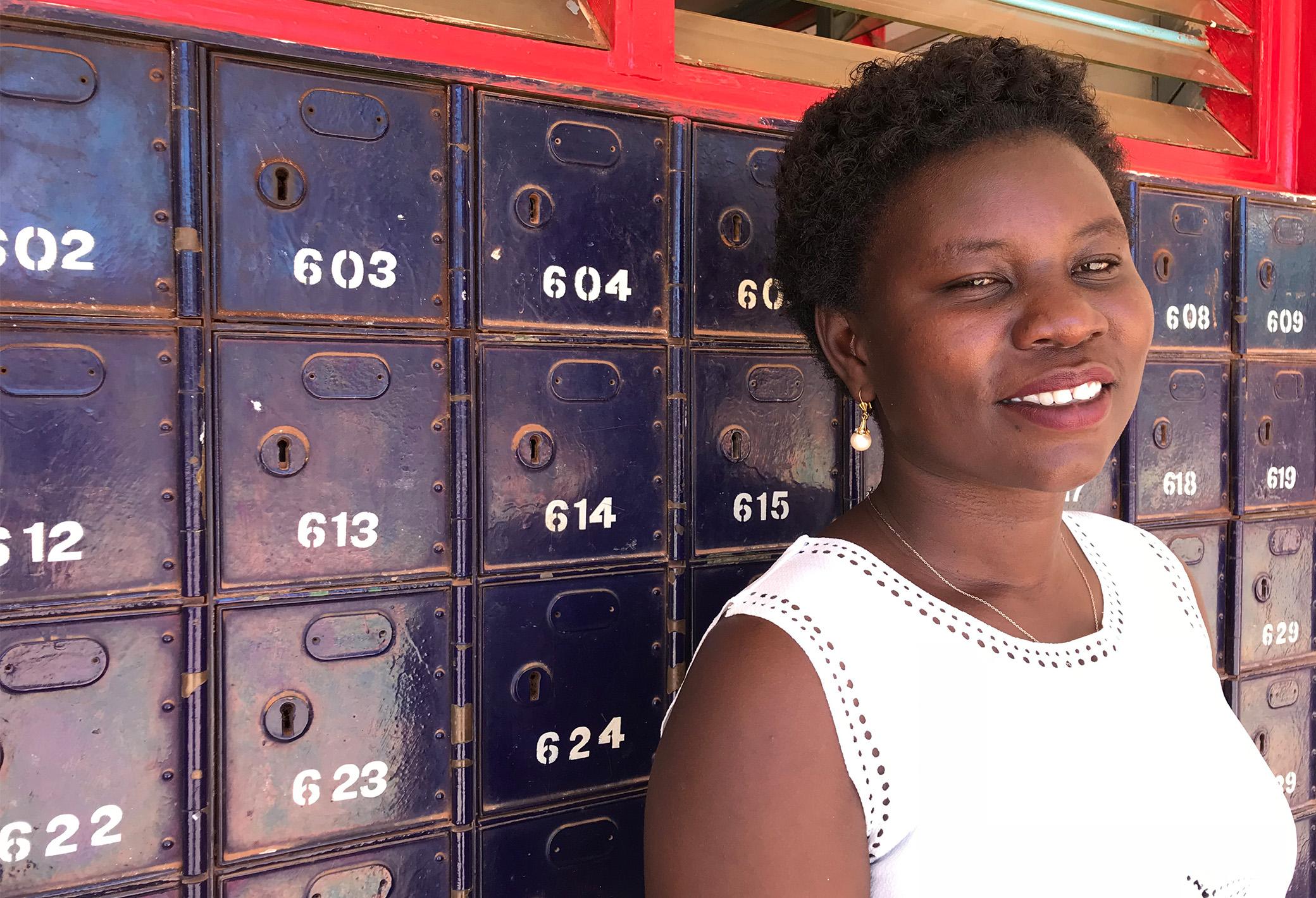 Ms Sarah Alele, Regional Supervisor of Posta Uganda. Photo Vibeke Quaade