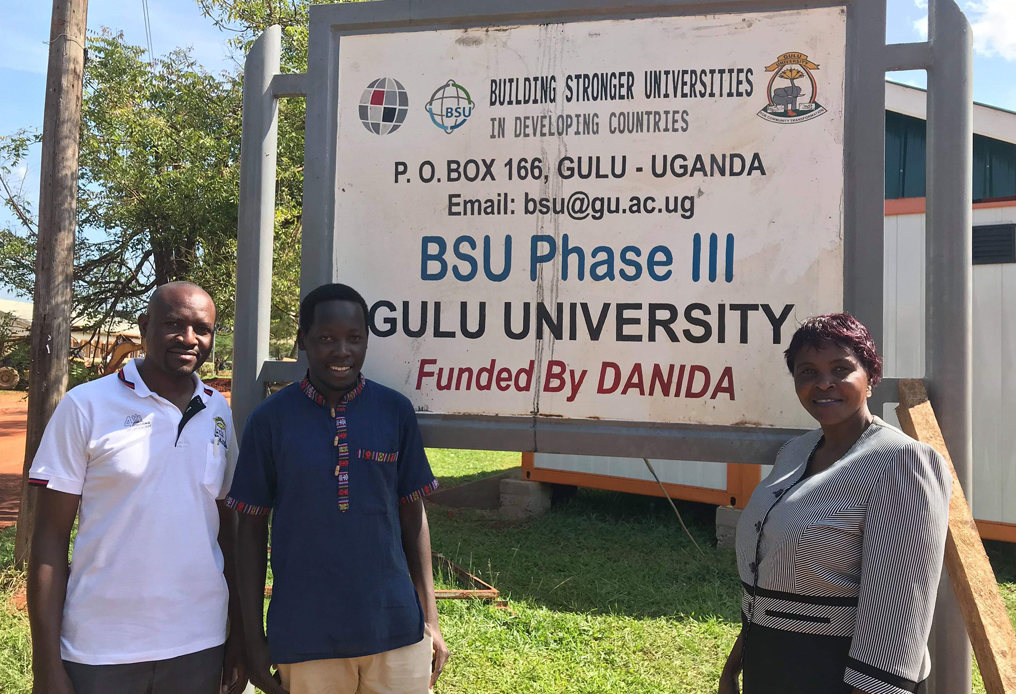 Ms Agatha Alidri, Peter Okwoko and Benedict Oyo, Gulu University