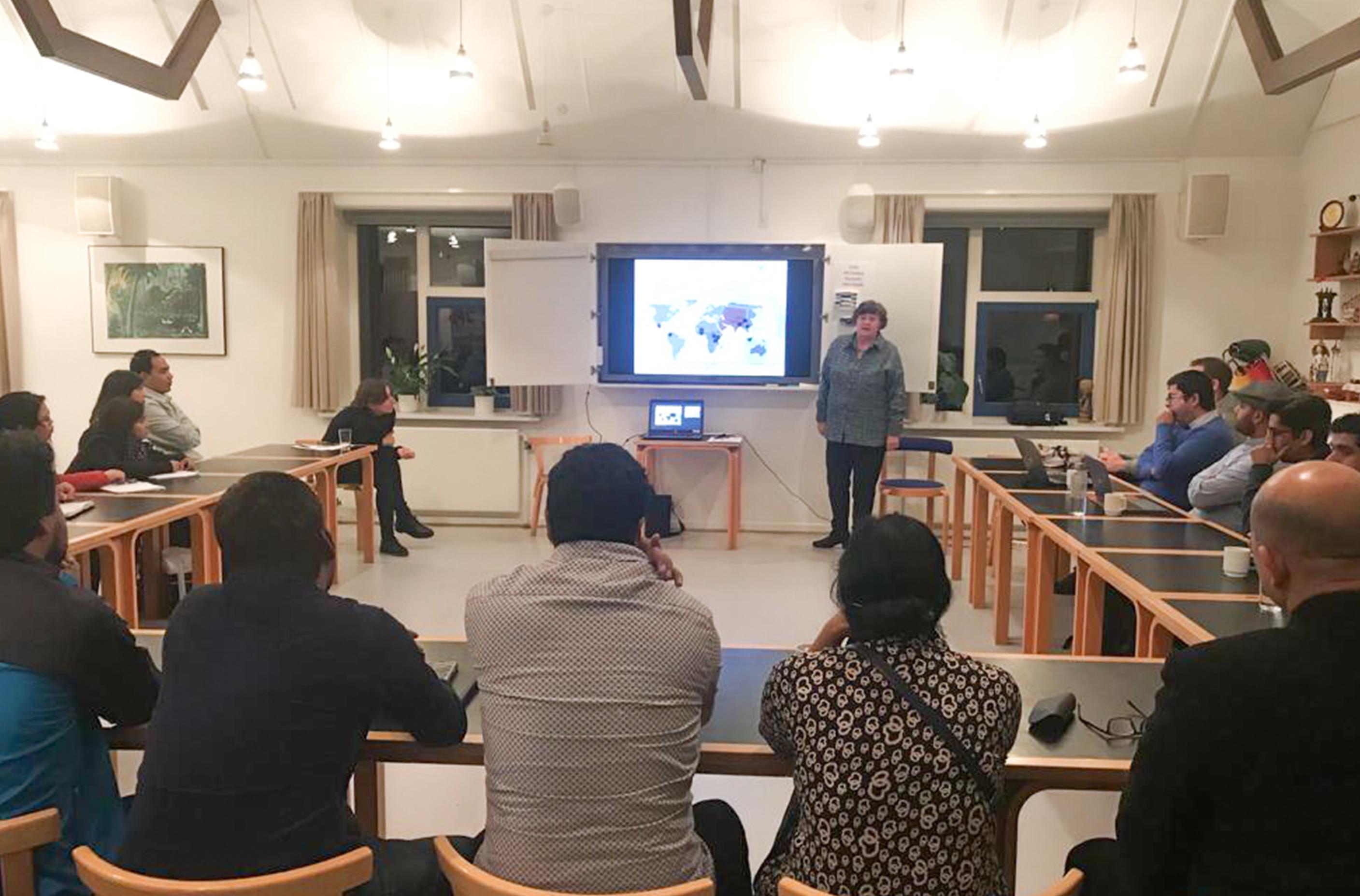 Capacity Advisor, Annette Kaalund-Jørgensen, giving a presentation