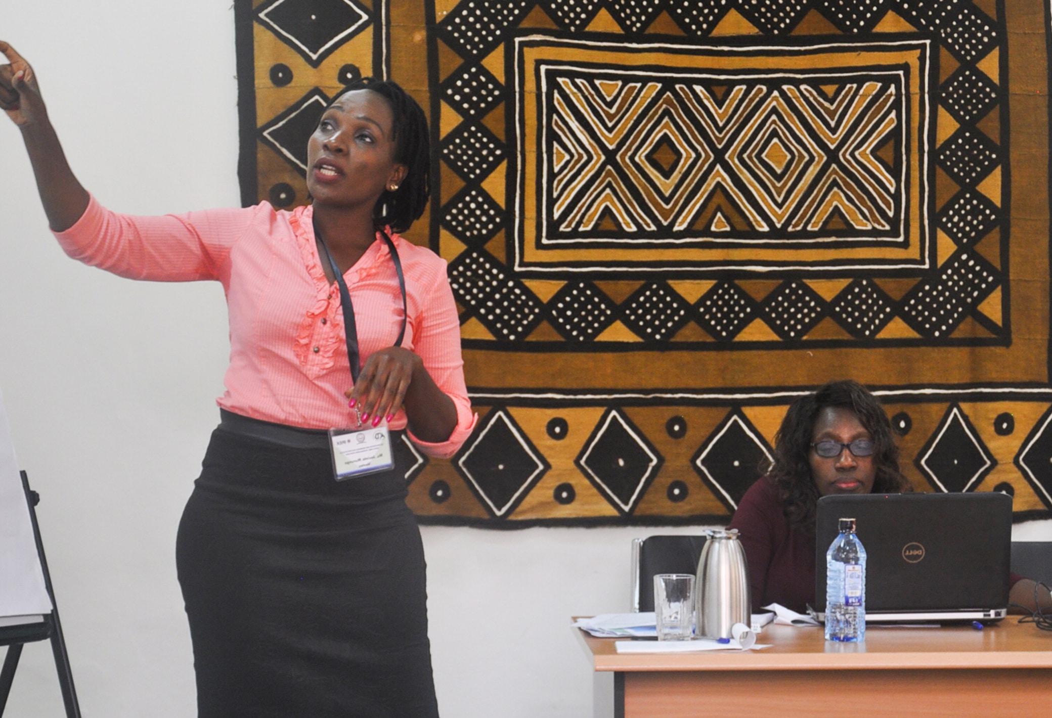 Private sector representative making a presentation during the workshop, Courtesy of IREK